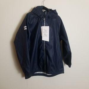 H&M Boys Waterproof Hooded Rain Coat Blue 4-6